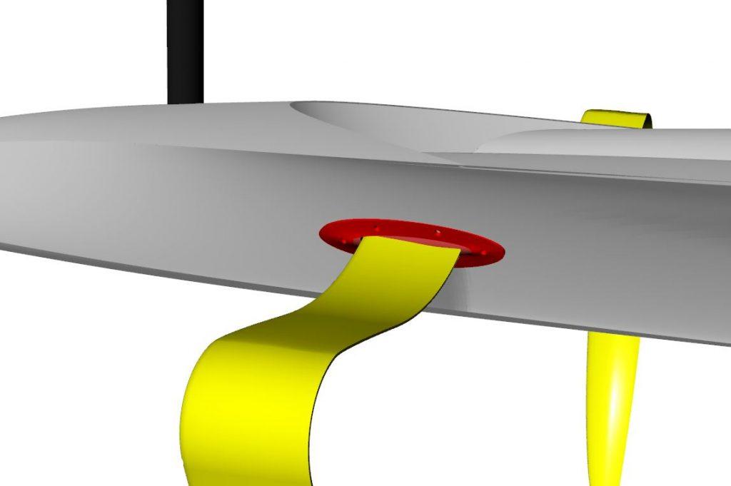 Foiling Dinghy dessin conception