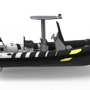 semi-rigide zenpro 690 naviwatt vue latérale tribord