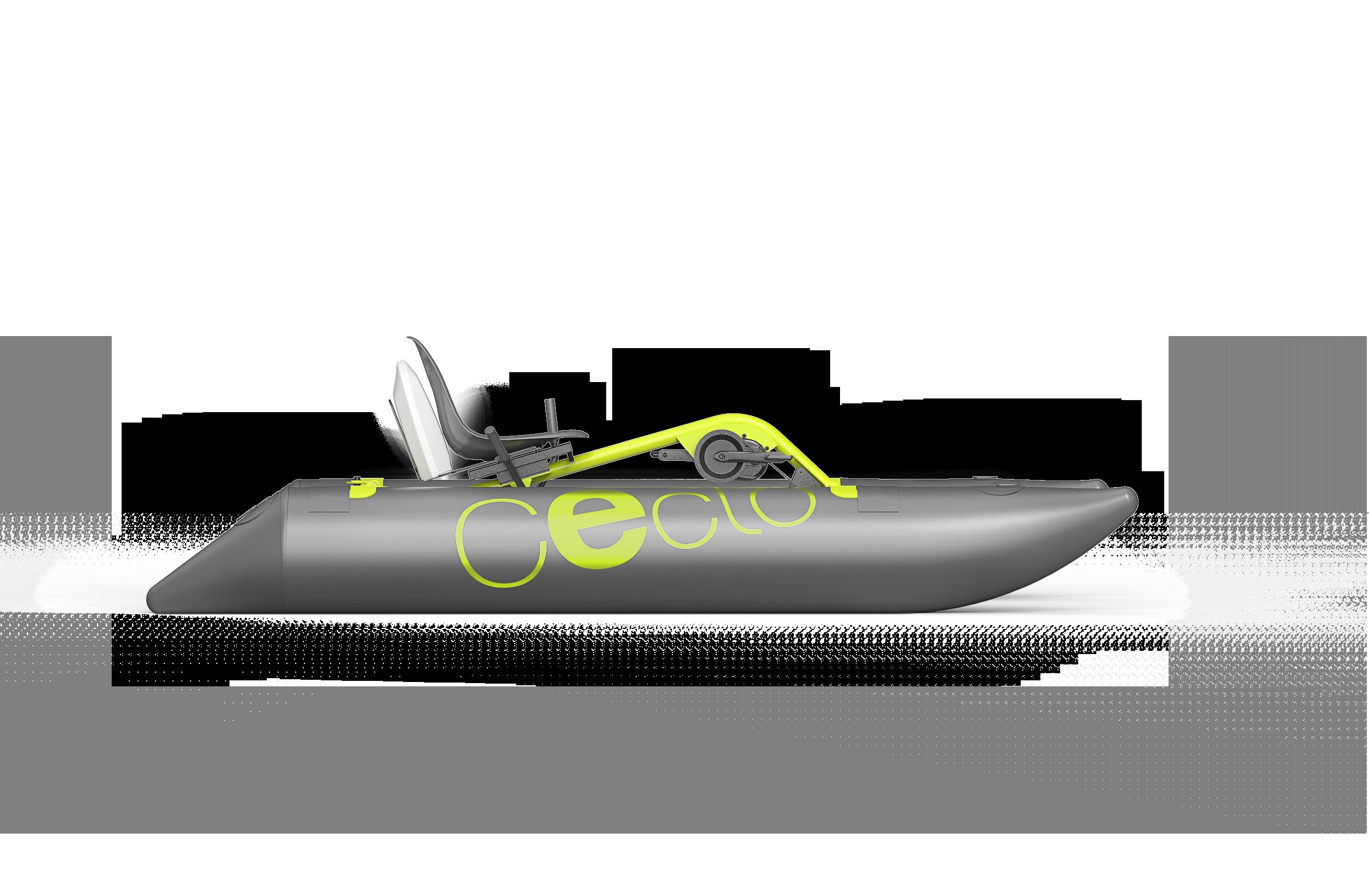 catamaran électrique gonflable CECLO FUN X2 vue latérale