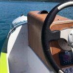 ecokart vue du volant et de la console de pilotage