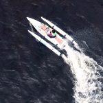 ecokart en navigation vue d'un drone