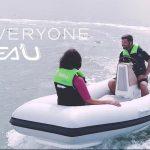 le jetboat en navigation avec deux personnes