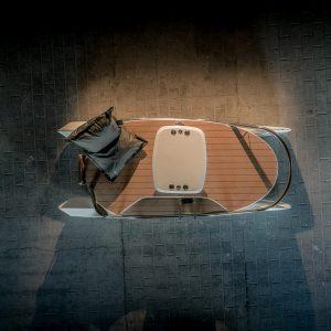 catamaran électrique ceclo luxe boat vue en studio de dessus