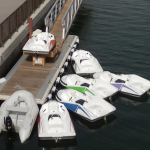 kart nautique gliss speed amarrés