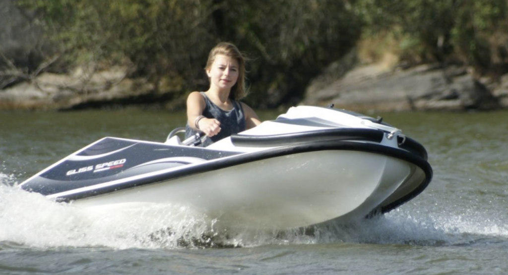 kart nautique gliss speed en virage
