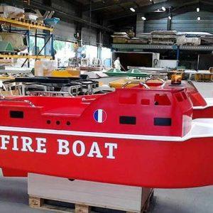 Le bateau électrique de pompier pour enfant