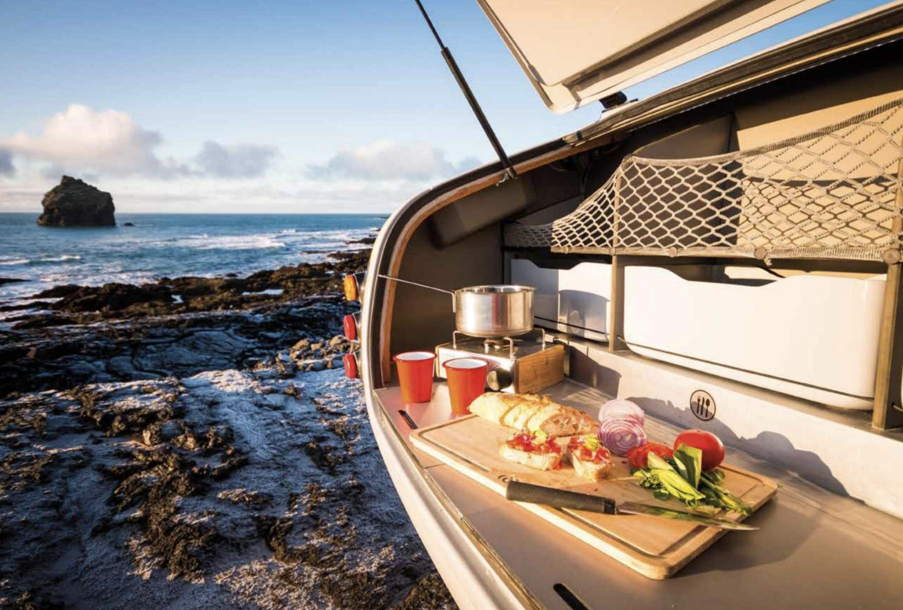 mini caravane Mink Campers cuisine