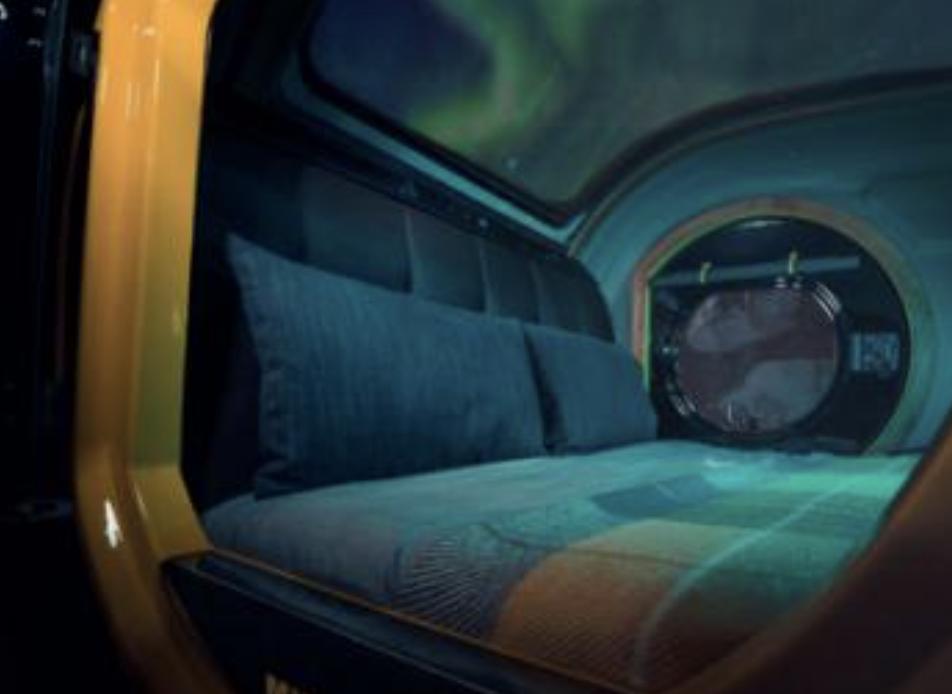 la nuit en mini caravane Mink Campers