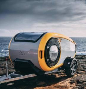 Une caravane goutte d'eau design, Mink Campers