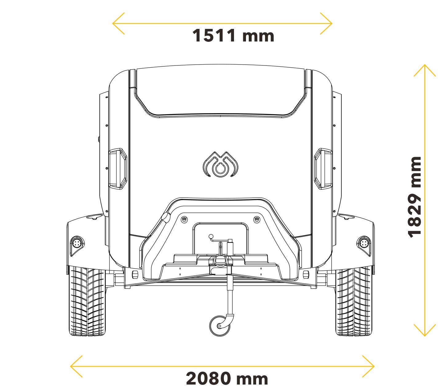 caravane teardrop Mink Campers dimensions