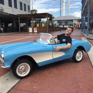 Corvette bleue 3:4 avant