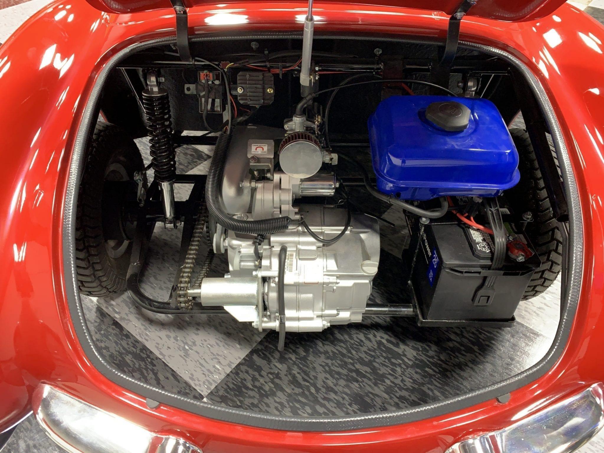 Corvette rouge moteur