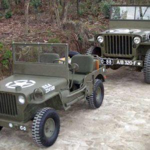jeep blc willys avec la vraie a