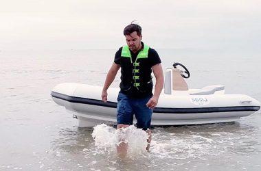 le jetboat à l'eau