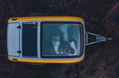 le toit panoramique caravane goutte d'eau Mink Campers
